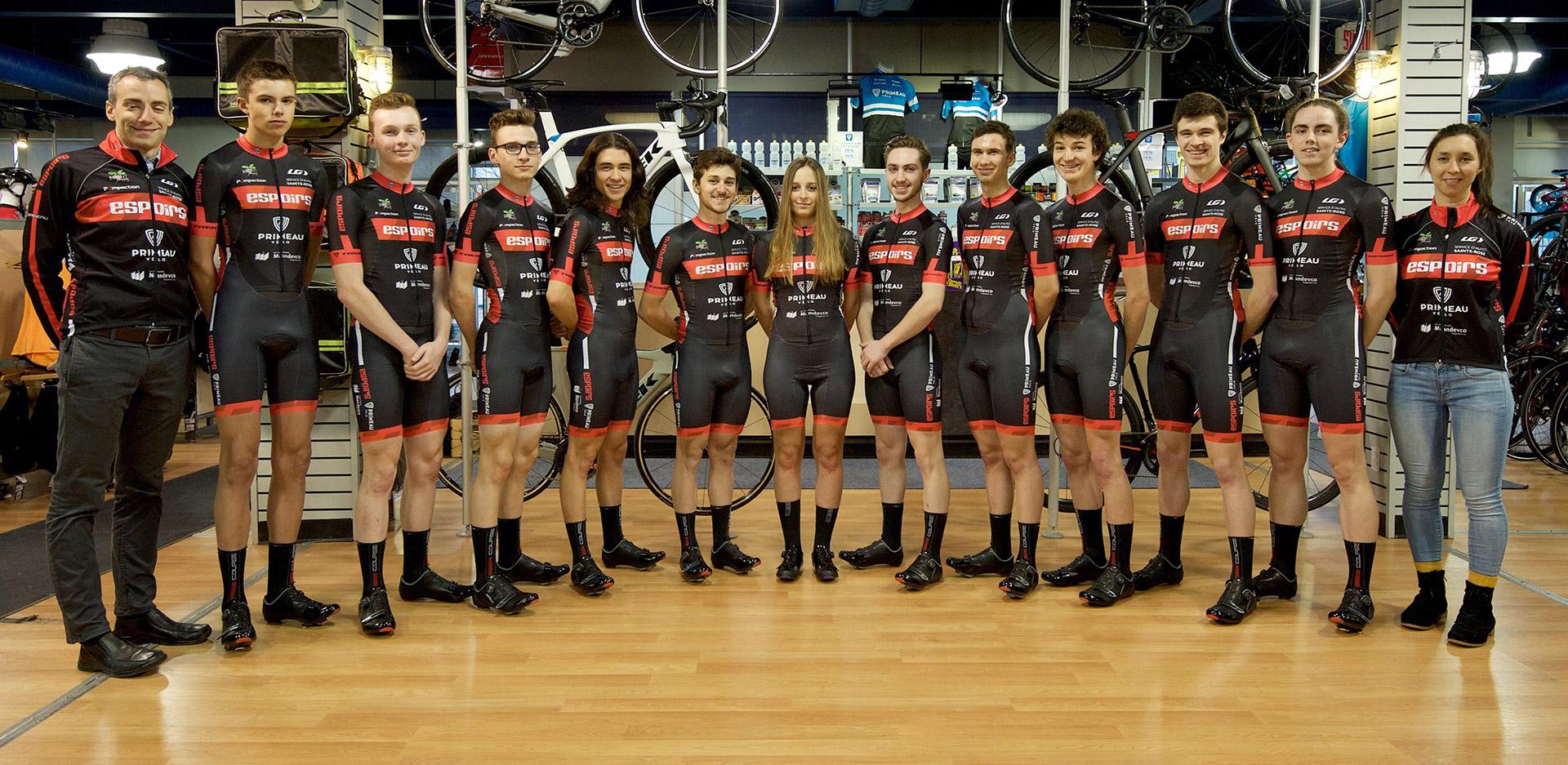 Équipes Espoirs Élite magasin Primeau vélo